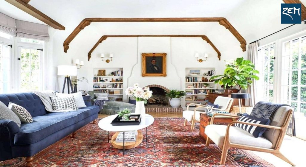 اتاق پذیرایی به سبک کلاسیک